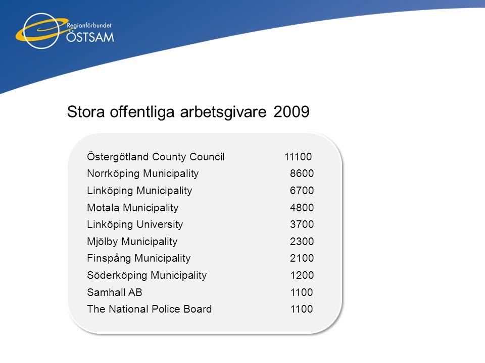 Stora offentliga arbetsgivare 2009