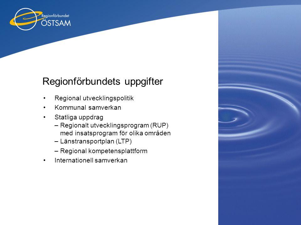 Regionförbundets uppgifter
