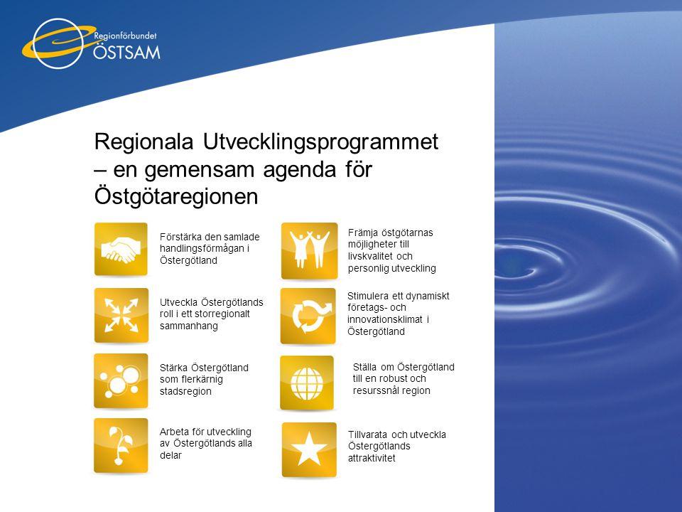 Regionala Utvecklingsprogrammet – en gemensam agenda för Östgötaregionen