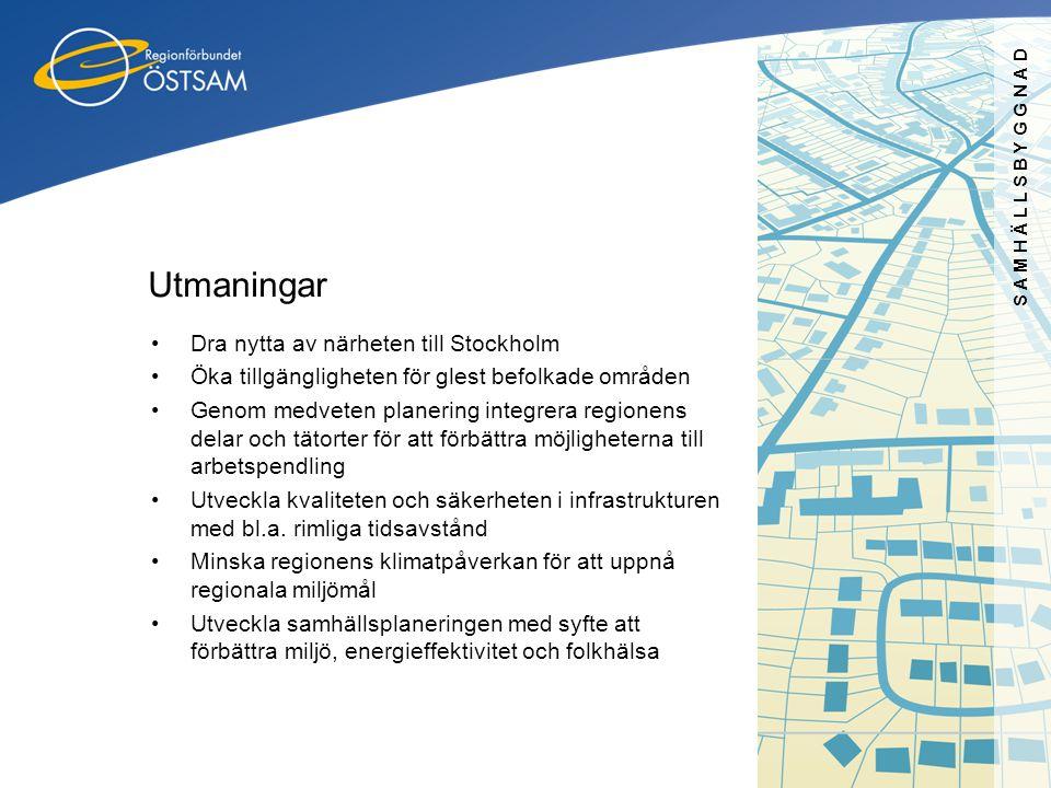 Utmaningar Dra nytta av närheten till Stockholm