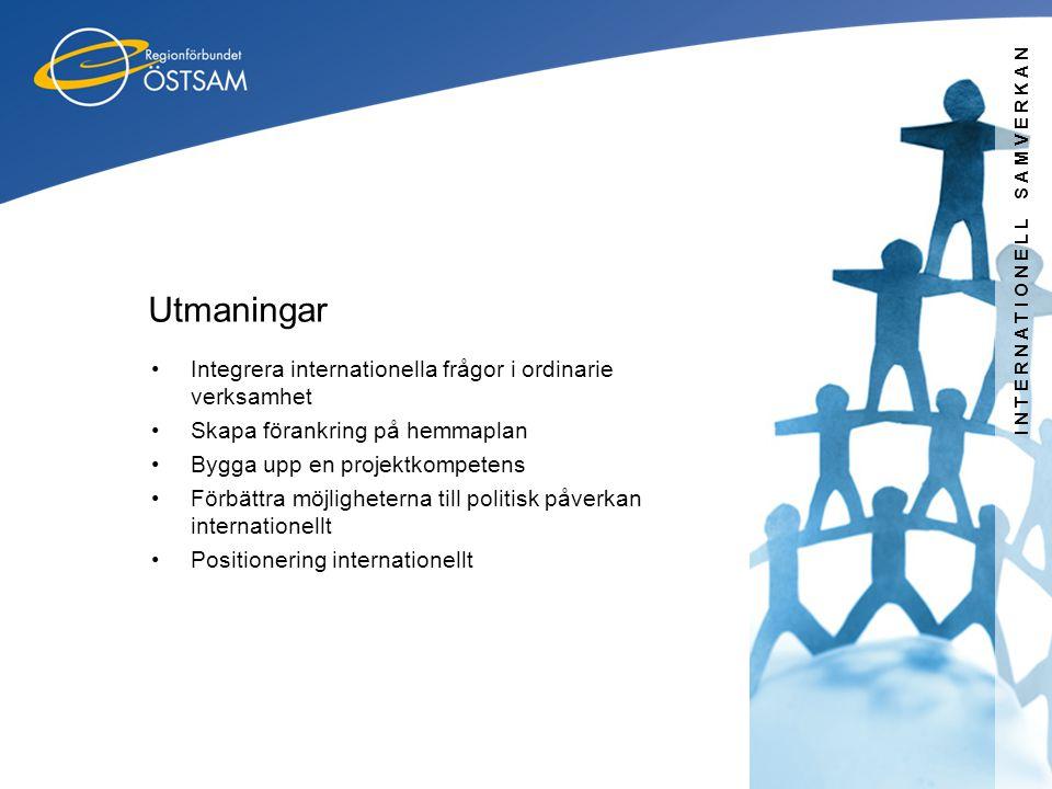 Utmaningar Integrera internationella frågor i ordinarie verksamhet