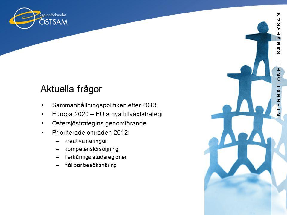 Aktuella frågor Sammanhållningspolitiken efter 2013