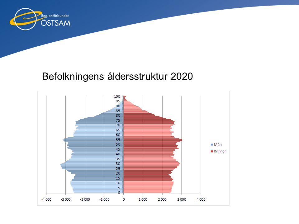 Befolkningens åldersstruktur 2020