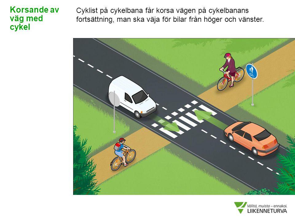 Korsande av väg med cykel