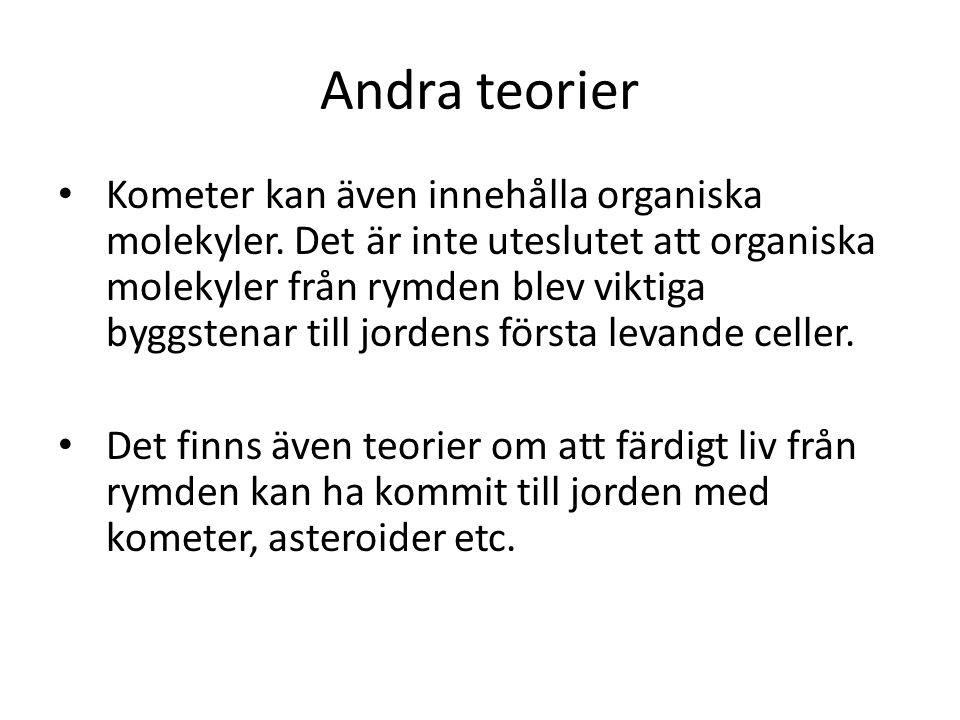 Andra teorier