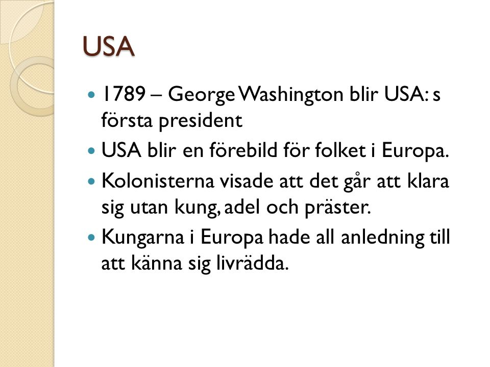 USA 1789 – George Washington blir USA: s första president