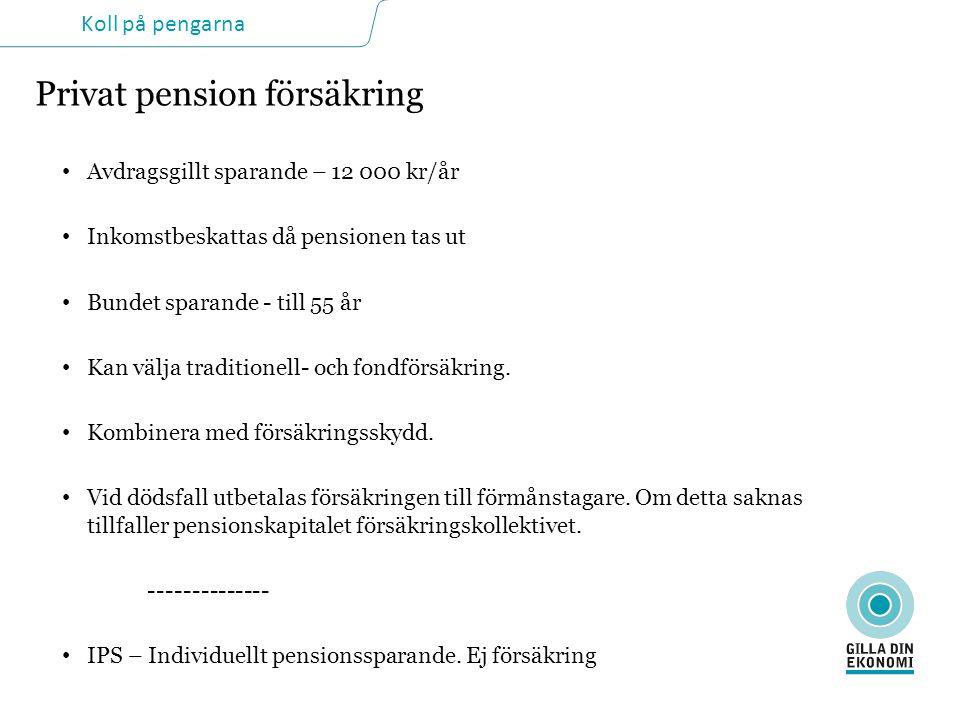 Privat pension försäkring