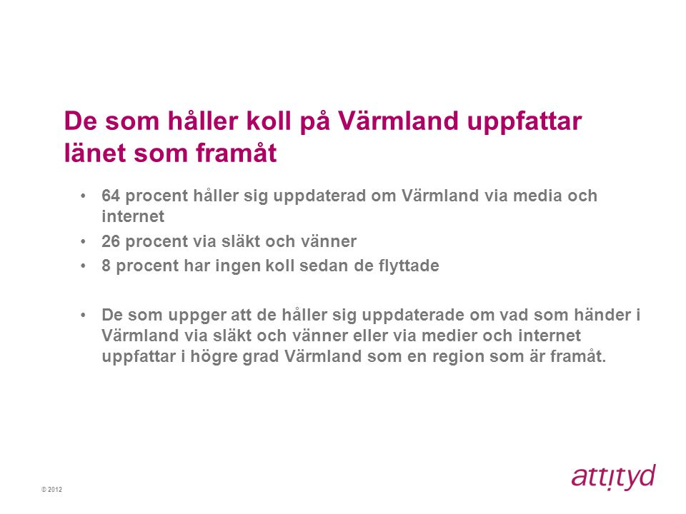 De som håller koll på Värmland uppfattar länet som framåt