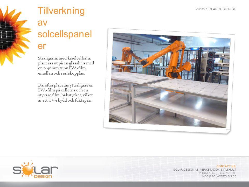 Tillverkning av solcellspaneler