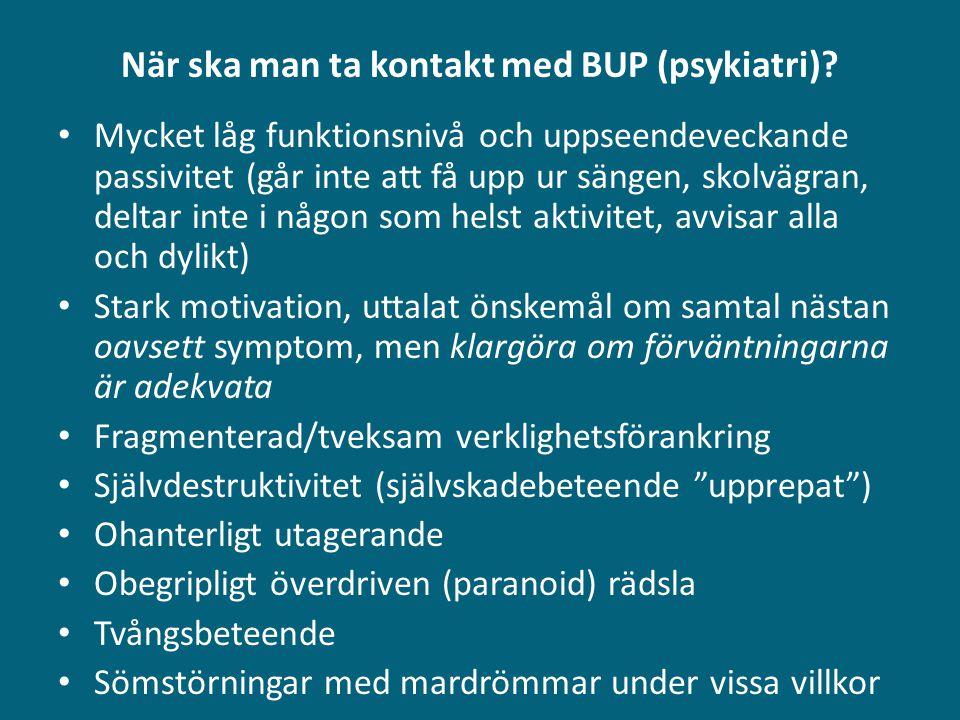 När ska man ta kontakt med BUP (psykiatri)