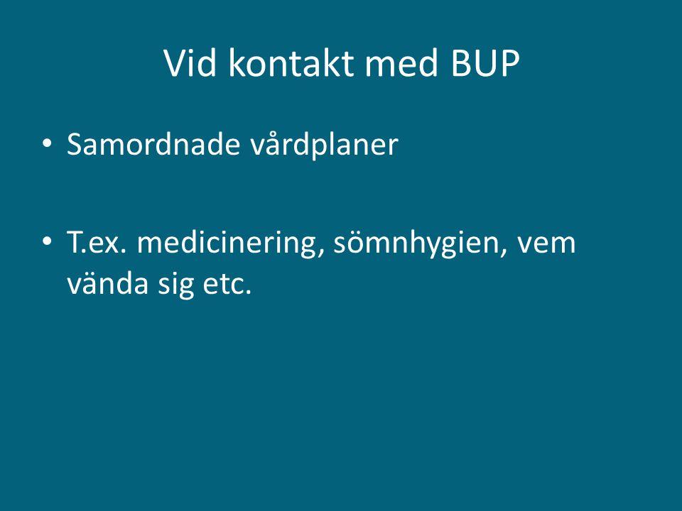 Vid kontakt med BUP Samordnade vårdplaner