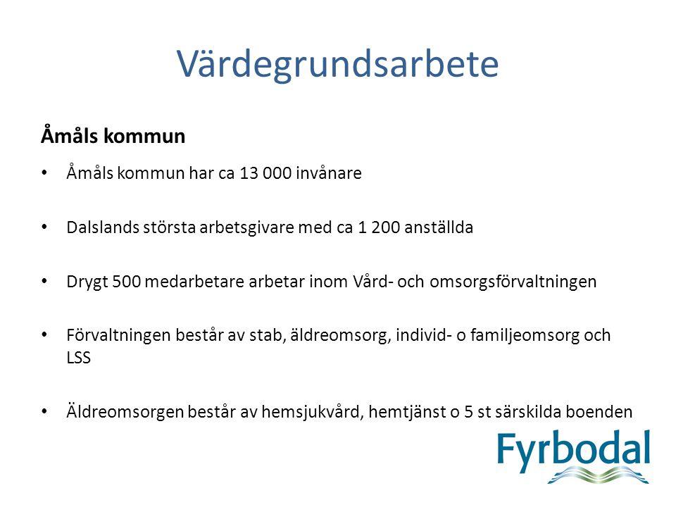 Värdegrundsarbete Åmåls kommun Åmåls kommun har ca 13 000 invånare