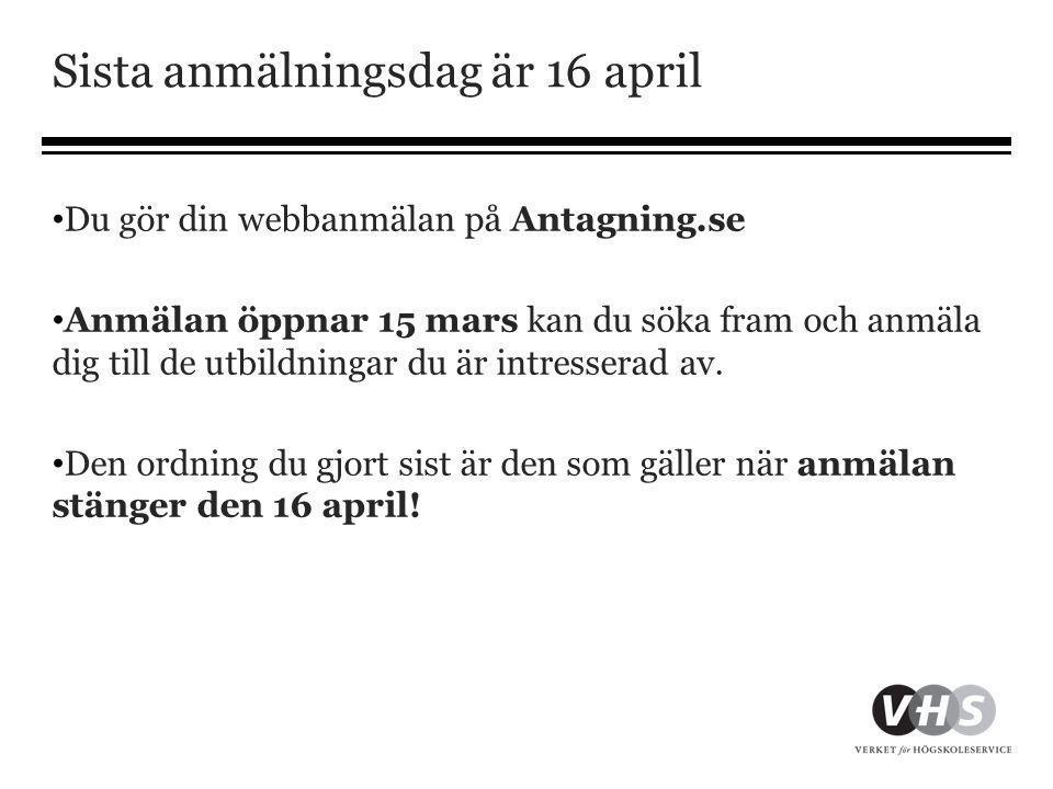 Sista anmälningsdag är 16 april