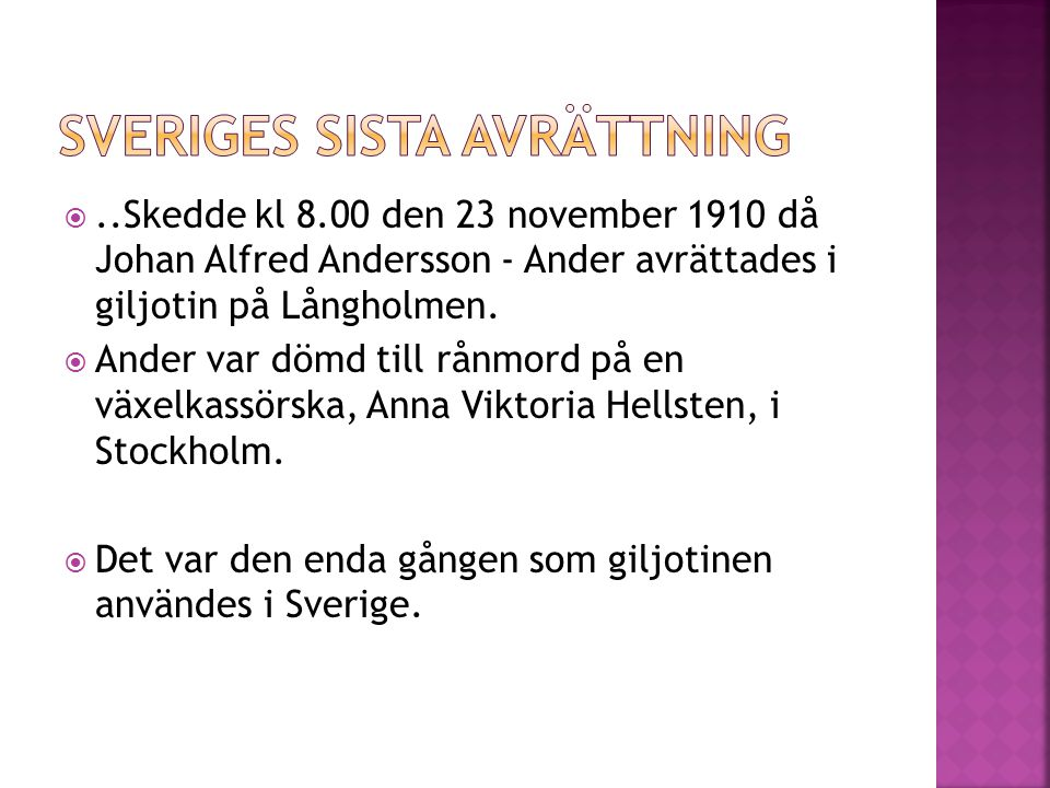 Sveriges sista avrättning