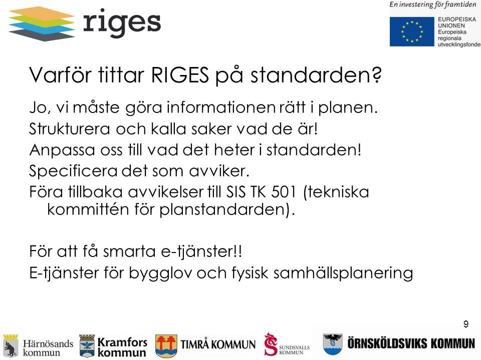 Varför tittar RIGES på standarden