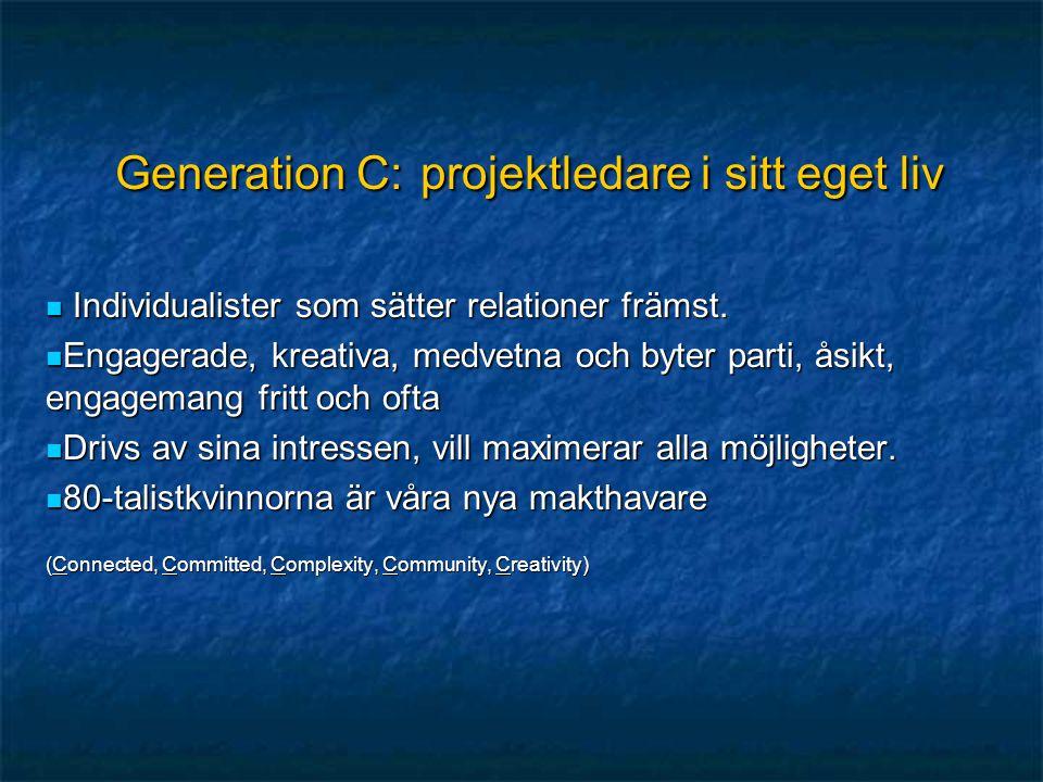Generation C: projektledare i sitt eget liv