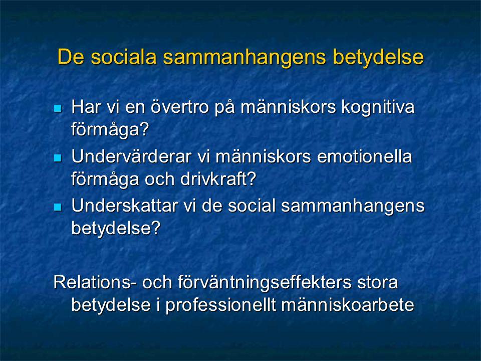 De sociala sammanhangens betydelse