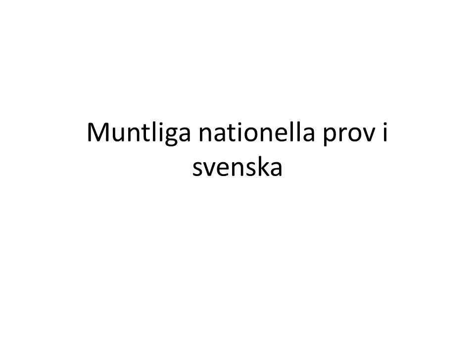 Muntliga nationella prov i svenska
