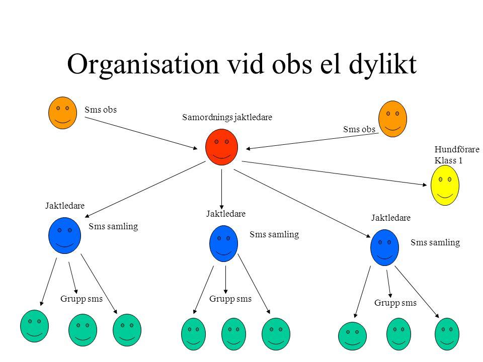 Organisation vid obs el dylikt