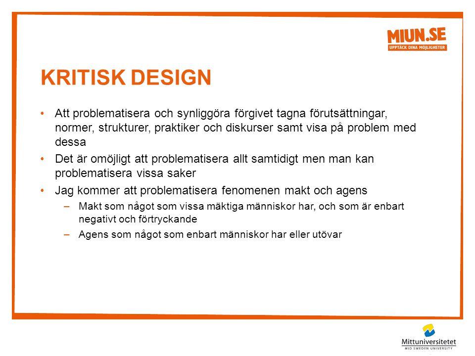 Kritisk Design