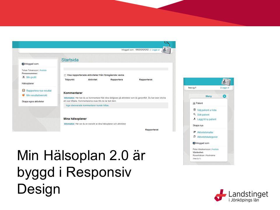 Min Hälsoplan 2.0 är byggd i Responsiv Design