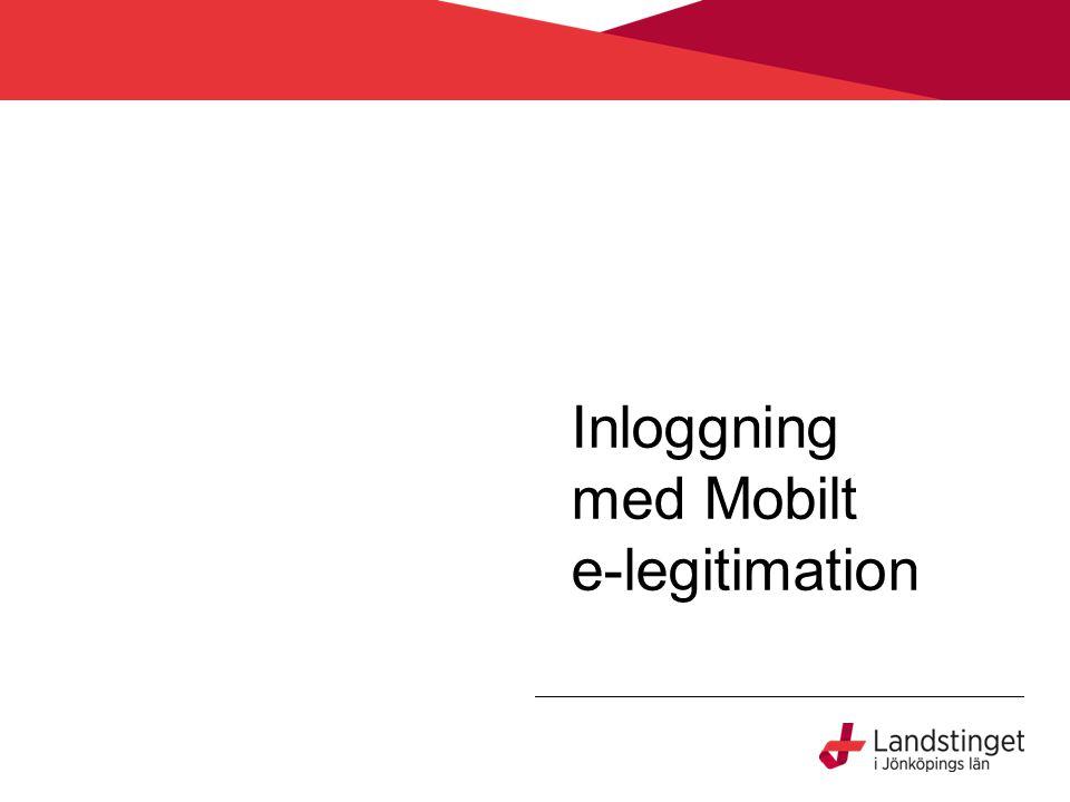 Inloggning med Mobilt e-legitimation