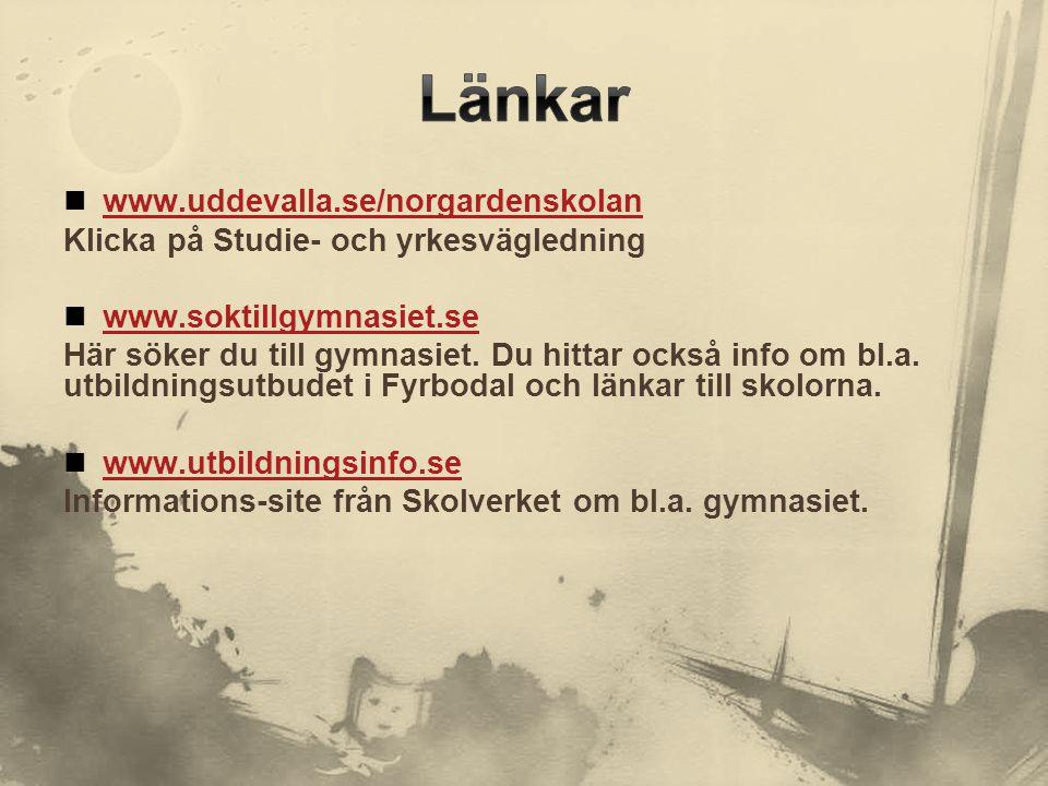 Länkar www.uddevalla.se/norgardenskolan
