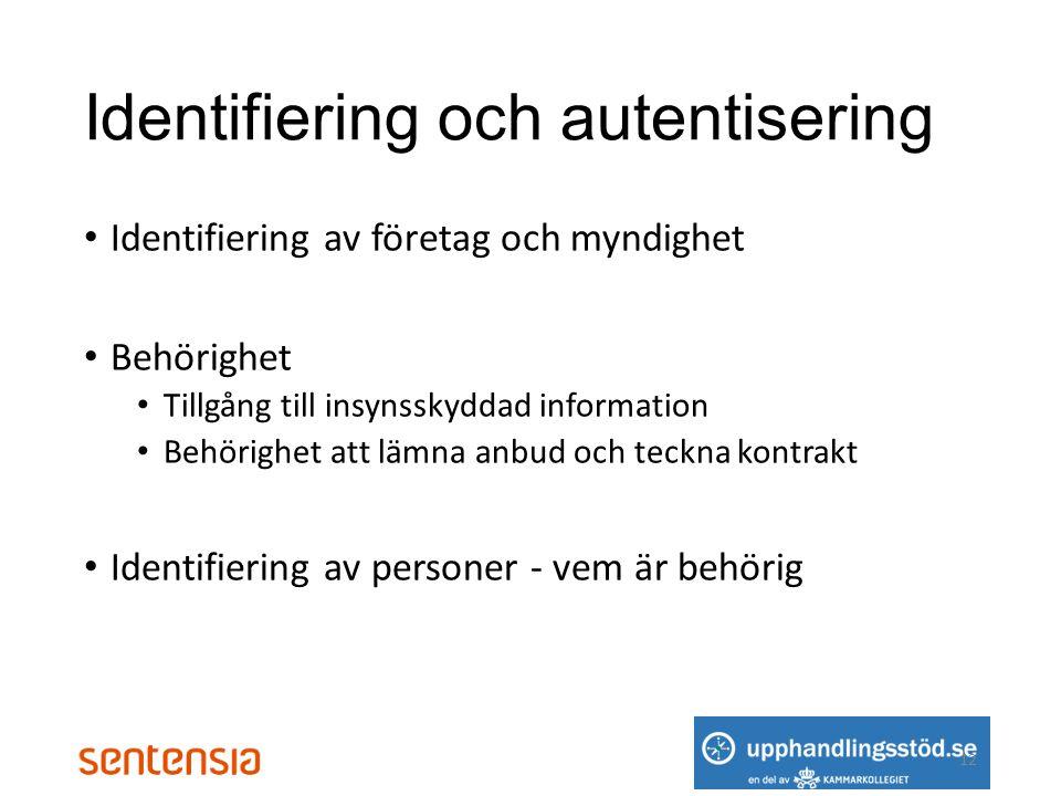 Identifiering och autentisering