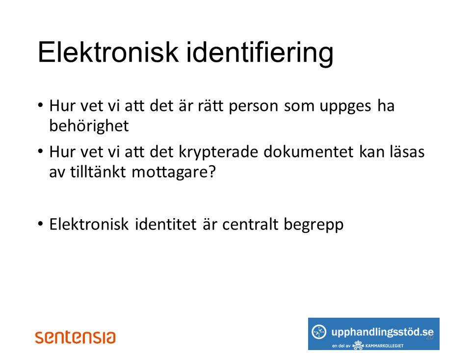 Elektronisk identifiering