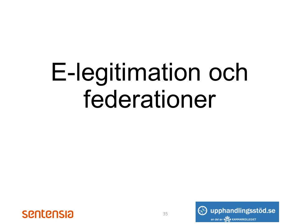 E-legitimation och federationer