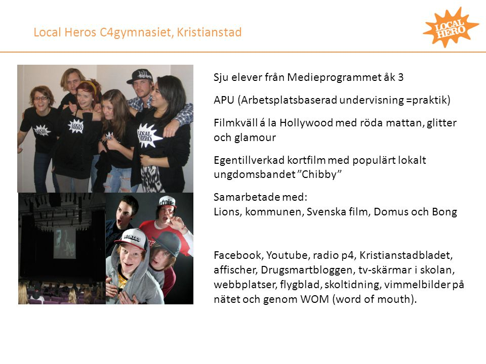 Local Heros C4gymnasiet, Kristianstad