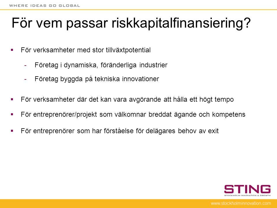För vem passar riskkapitalfinansiering