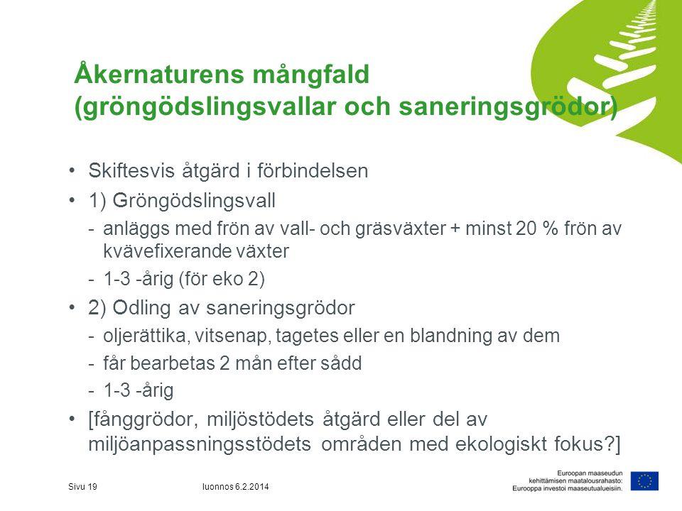 Åkernaturens mångfald (gröngödslingsvallar och saneringsgrödor)
