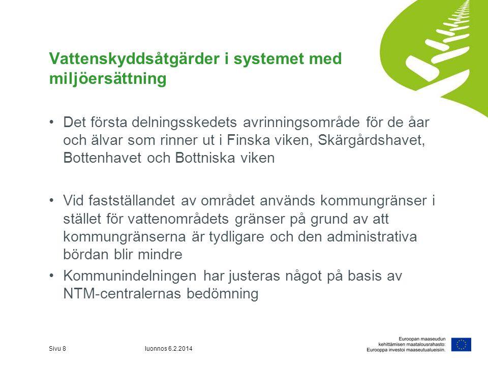 Vattenskyddsåtgärder i systemet med miljöersättning