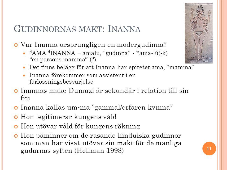 Gudinnornas makt: Inanna
