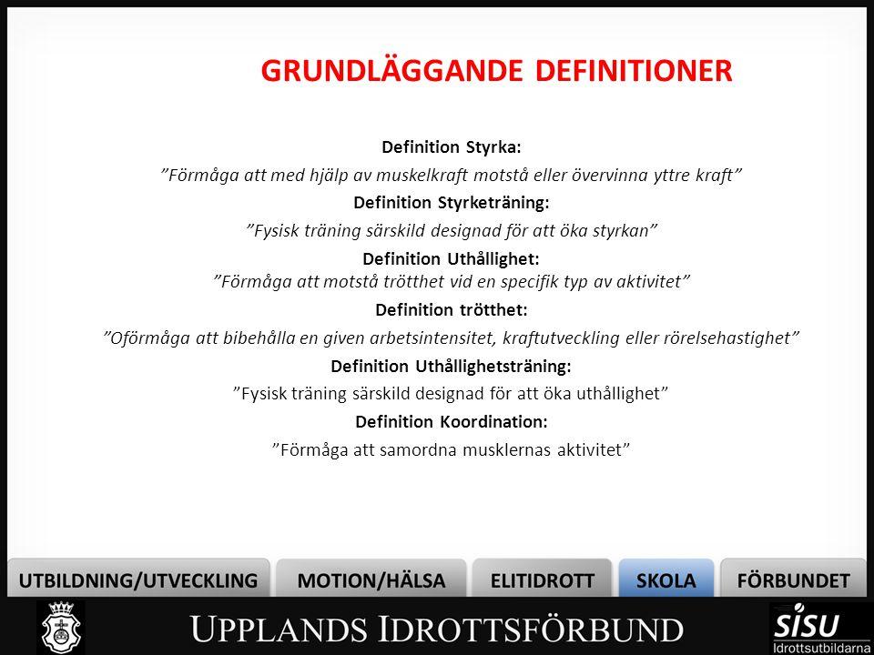 GRUNDLÄGGANDE DEFINITIONER