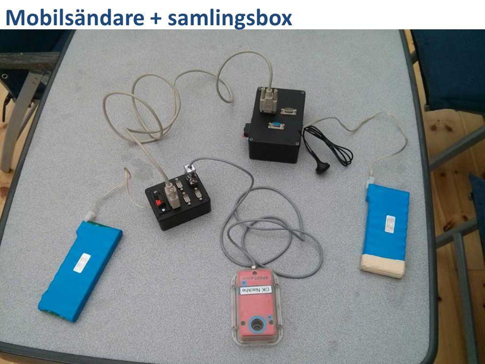 Mobilsändare + samlingsbox