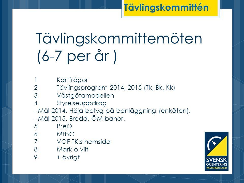 Tävlingskommittemöten (6-7 per år )