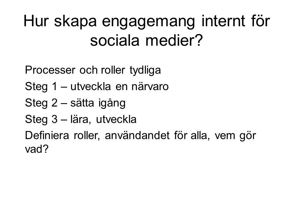 Hur skapa engagemang internt för sociala medier