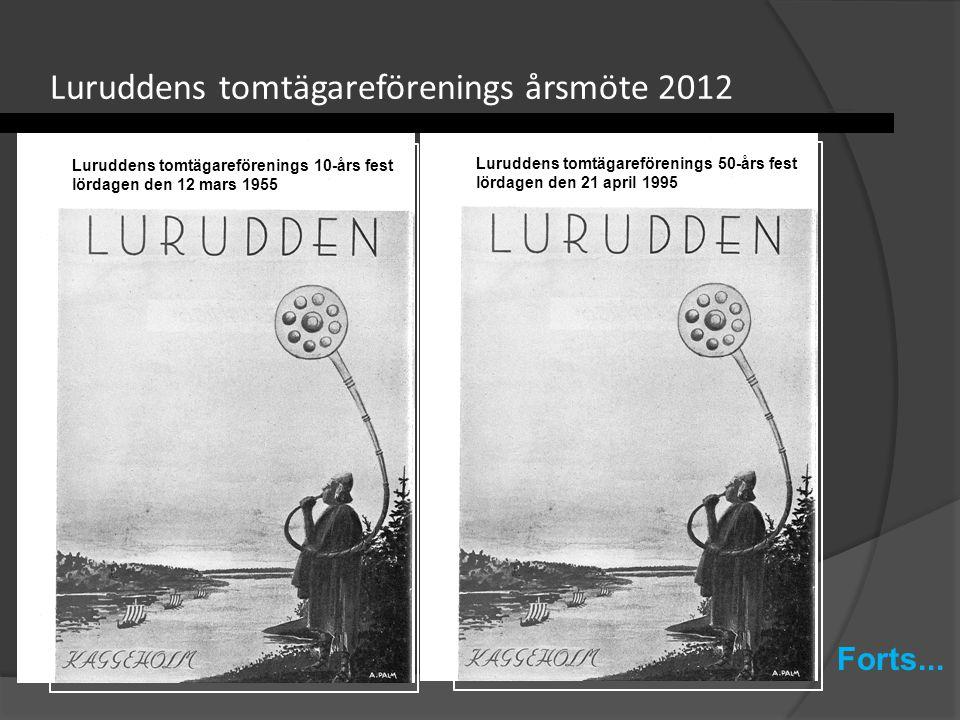 Luruddens tomtägareförenings årsmöte 2012