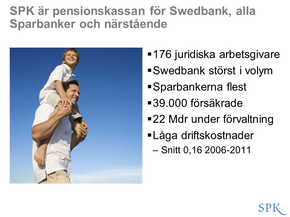 SPK är pensionskassan för Swedbank, alla Sparbanker och närstående