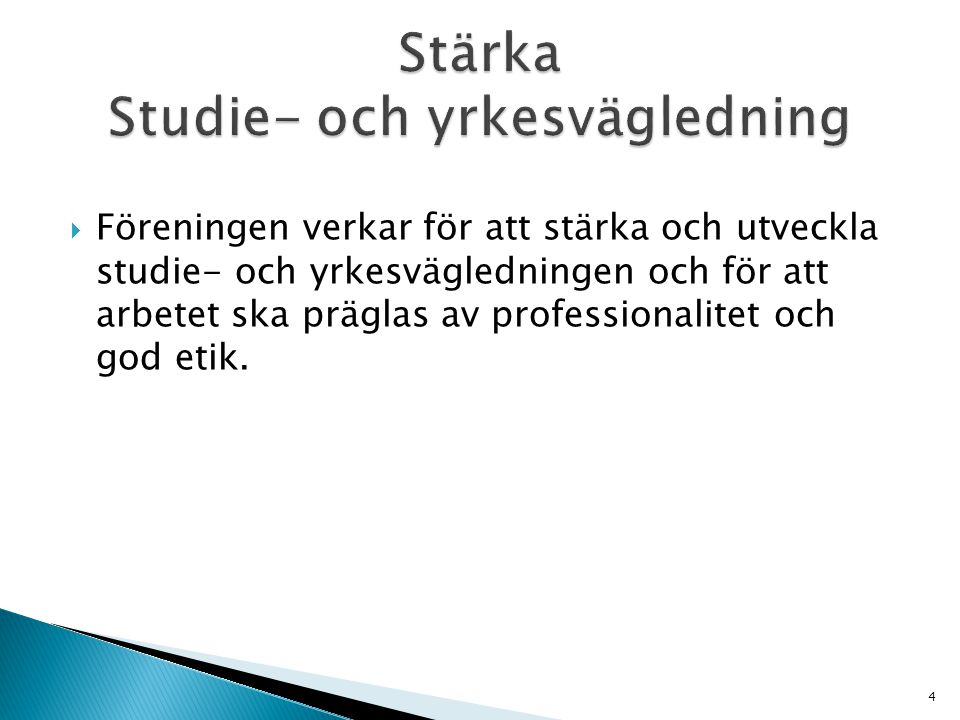 Stärka Studie- och yrkesvägledning