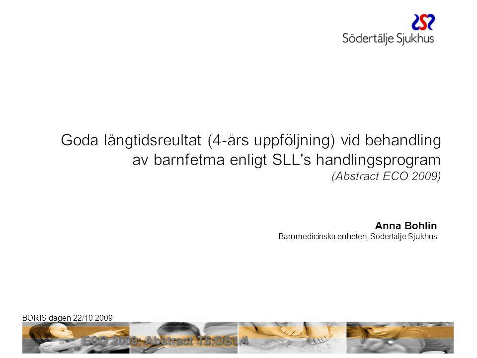 Sven Klaesson 2017-04-03. Goda långtidsreultat (4-års uppföljning) vid behandling av barnfetma enligt SLL s handlingsprogram.