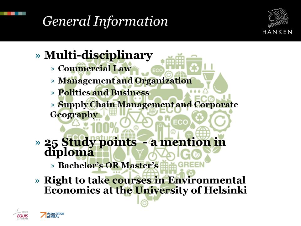 General Information Multi-disciplinary