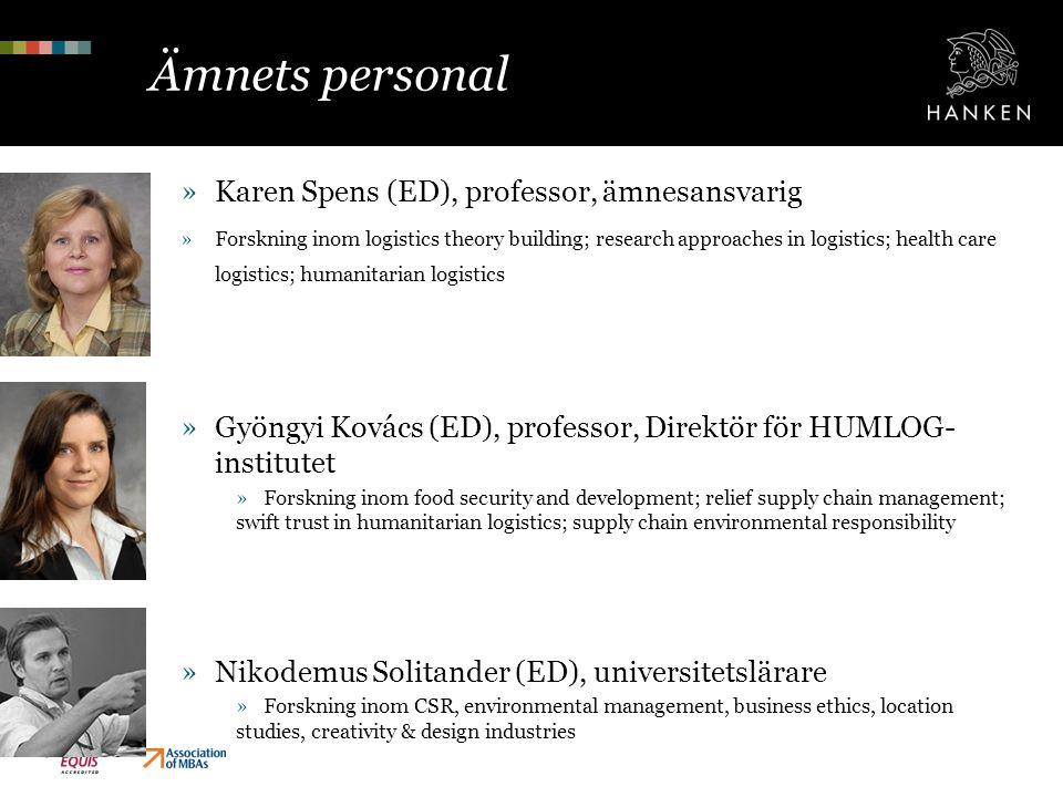 Ämnets personal Karen Spens (ED), professor, ämnesansvarig