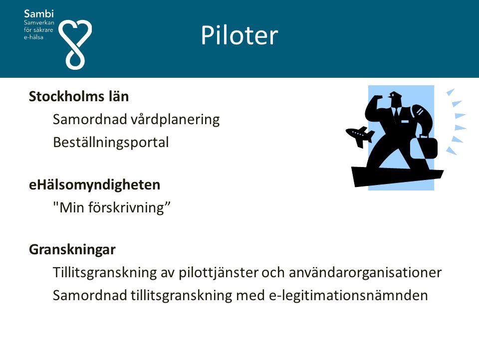 Piloter Stockholms län Samordnad vårdplanering Beställningsportal