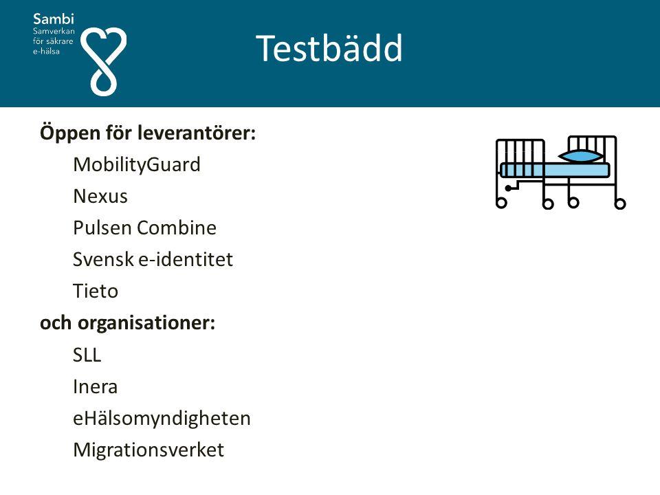 Testbädd Öppen för leverantörer: MobilityGuard Nexus Pulsen Combine