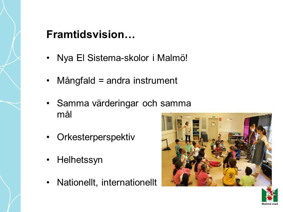 Framtidsvision… Nya El Sistema-skolor i Malmö!