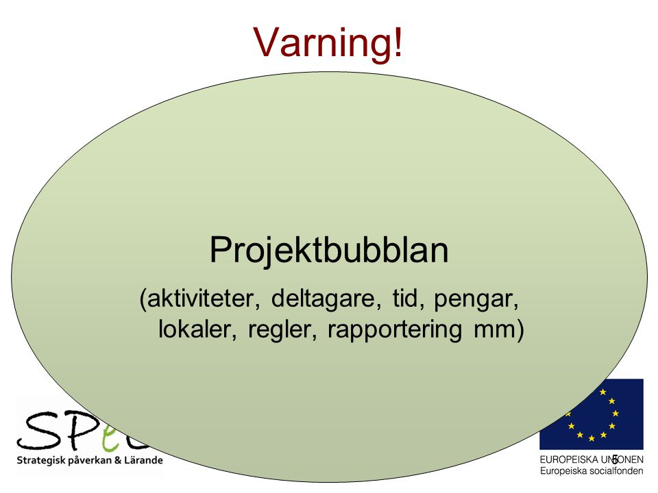 Varning! Projektbubblan