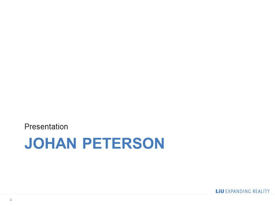 Presentation Johan peterson